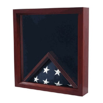 Flag Combination Flag medal Award Display Case Hand Made By Veterans