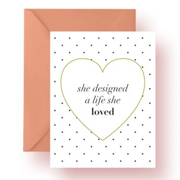 A Life She Loved Card