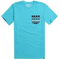 Hurley Tribal Pocket T-Shirt - Mens Tee - Blue