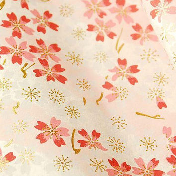Origami Paper / Yuzen Chiyogami / Gold Foil Washi Paper /Japan Folding Paper / Traditional Japanese Favour Crafts 14* 14 / 20 sheets #334
