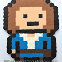 River Song Doctor Who Perler from Little House of Crafting