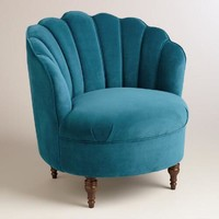 Peacock Blue Velvet Telulah Chair