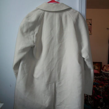 Vintage 1980's london fog knee length men trench coat