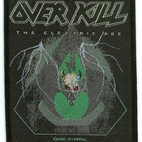 Overkill Sew On Patch The Electric Age Logo