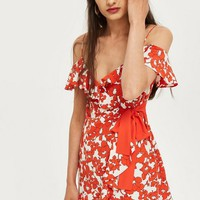 Poppy Ruffle Mini Dress | Topshop