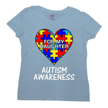 Autism Mom Shirt Autism Dad T Shirt Autistic Support Gifts Autism Month Awareness Day Spectrum Society Speaks Mens Ladies Tee - SA1045
