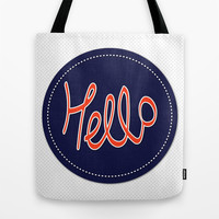 Hello ! Tote Bag by Anny Cecilia Walter