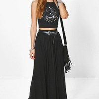 Sophia Floor Sweeping Jersey Maxi Skirt
