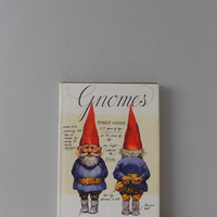 1970s Rien Poortvliet and Wil Nuygen Gnomes Hardback Book // free gift wrapping