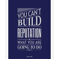 Henry Ford Inspirational Quote Typography Print from Lab No. 4