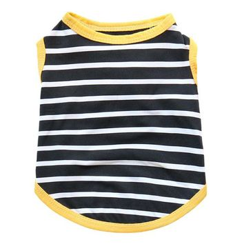 Black Stripes and Yellow Piping Cat Shirt