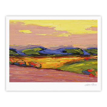 "Jeff Ferst ""Pastoral View"" Multicolor Painting Fine Art Gallery Print"
