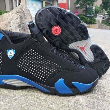 Supreme x Air Jordan 14 Black/Blue Diamond
