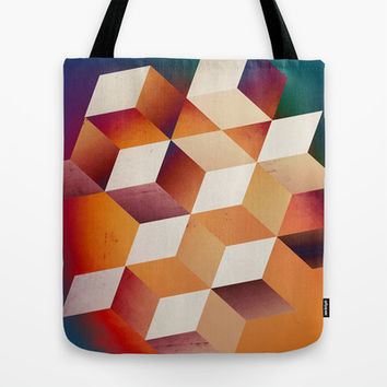 Oil Slick Cubes Tote Bag by DuckyB (Brandi)