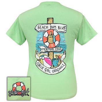 Girlie Girl Originals Preppy Beach Signs Mint T-Shirt