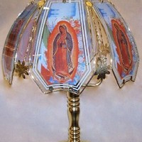 Virgin Mary of Guadeloupe/Mexican Flag Touch Lamp