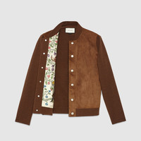 Gucci Wool cardigan with suede front