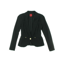 XOXO Womens Ponte Long Sleeves One-Button Suit Jacket