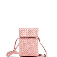 Casual Braided PU Magnetic Crossbody Bag