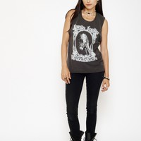 Janis Joplin Live at Woodstock Muscle Tee - Vintage Black