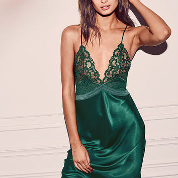 Satin & Lace Midi Slip - Very Sexy - Victoria's Secret