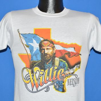 80s Willie Nelson & Family On Tour 1984 t-shirt Small