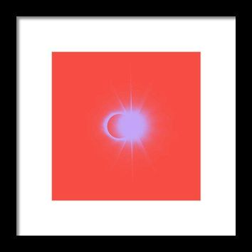 Solar Eclipse, Diamond Ring 2a - Framed Print