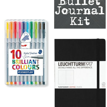 Very Best Bullet Journal and Pen Set Organizer Starter Kit