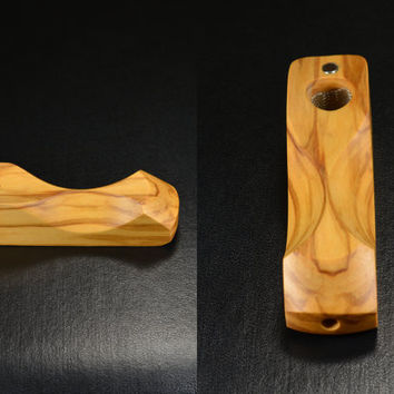 Ember Out Pipes • Olivewood • Half Inch Bowl • Beautiful and Defies Gravity • See Images - Use of Magnet