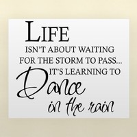 LIFE ISN'T ABOUT WAITING FOR THE STORM TO PASS IT'S LEARNING TO DANCE IN THE ...