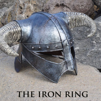 "Dovahkiin Iron helm resin replica inspired by ""The Elder Scrolls V: Skyrim"" videogame"