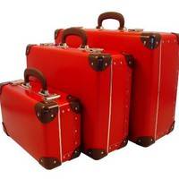 Cargo Cool Traveler Suitcases, Set of 3, Red