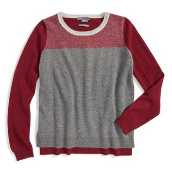 Girl's Vince Colorblock Cashmere Sweater,