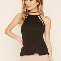 Cutout Peplum Top