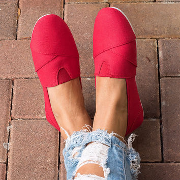 Spring Canvas Shoes - Red