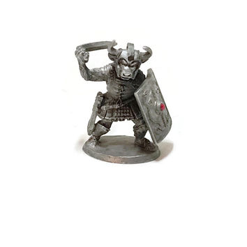 1990s Ral Partha Ogre Pewter Figure, Vintage Miniatures, VINTAGE Ral Partha Pewter Ogre Knight, Rawcliffe Pewter Dungeons & Dragons