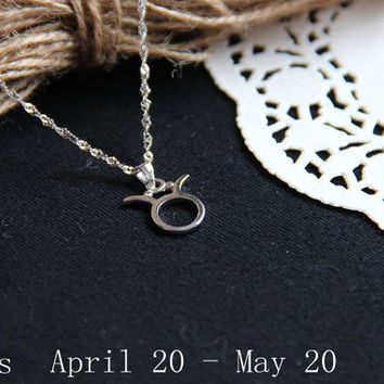 Infinity Necklace-Taurus Necklace - Zodiac Necklace Pendant - Pendant Necklace sterling silver - Forever Necklace Gift