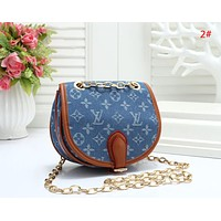 LV Louis Vuitton Fashion New Monogram Print Chian Shopping Leisure Shoulder Bag Women 2#