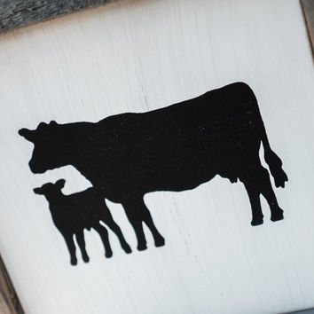 Cow Silhouette Sign Rustic Country Kitchen decor farmhouse decor, cottage decor, kitchen sign, rustic sign, barnwood chicken cutout