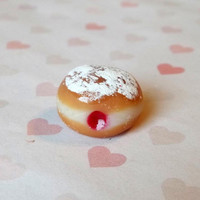 Jelly Donut charm by ScrumptiousDoodle on Etsy