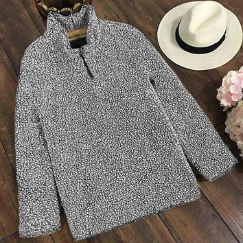 Cupshe Want You to Stay Fleece Top