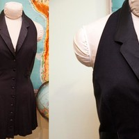 Vintage Betsey Johnson Luxe 90s Grunge Dress // Size S - M - 6 // Little Black Dress