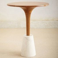 Marble Base Tea Table by Anthropologie Neutral One Size Furniture