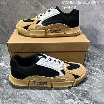 DCCK2 A1213 Adidas Yeezy 700 Off White For ART Since Fashion Low Skate Shoes Yellow