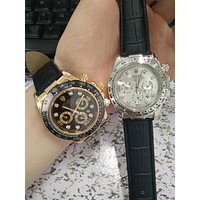 Rolex Trending Stylish Ladies Women Business Movement Couple Watch Wristwatch I