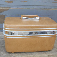 Samsonite Luggage /Carry-on Case/Vintage Luggage/Brown Suitcase/Make-up Case/Brown Case