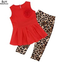 Baby Clothing Sets Retail summer Cute Casual T-Shirt pants 2 pcs children