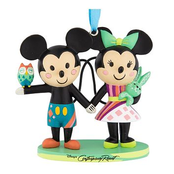 Disney Parks Mickey Minnie Mouse Contemporary Resort Ornament New with Tags