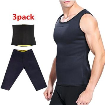 Slimming male Vest body Shaper Men T shirt sweat suits waist Belt Waist Trainer Hot Shapers shapewear Control Pants Sauna Corset
