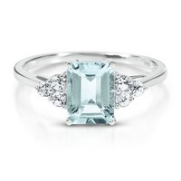 Octagonal Cut Aquamarine Ring         -                March         -                Birthstones         -                Jewelry         -                Categories                       - Helzberg Diamonds